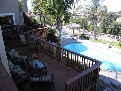 Your own private studio, deck and pool await you. Relax and enjoy the view.