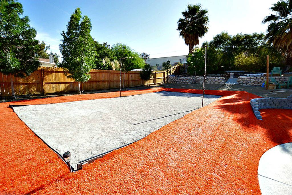 Sand Volleyball And Orange Turf...This Is Vegas!