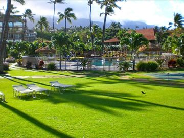 Aloha Tower, Pool, Spa, and Lawn