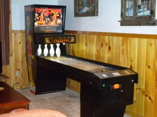 family fun with our 9 ft. bowling machine, - Pigeon Forge cabin vacation rental photo