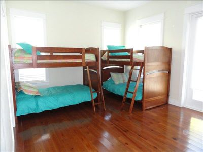 2nd floor bedroom is great for kids. 2 sets of bunks with private bath.