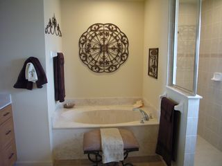 Cape Coral house photo - marble soaking tub, walkin shower, 2 vanities,