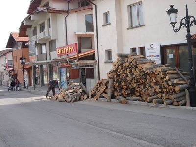 Bansko apartment rental - Getting ready for winter the tradional way