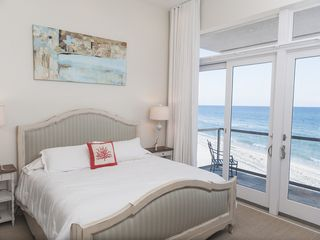 "Inlet Beach house photo - Master Bedroom. Balcony/patio. 50"" LED flat screen. Huge bath, walk in closet"
