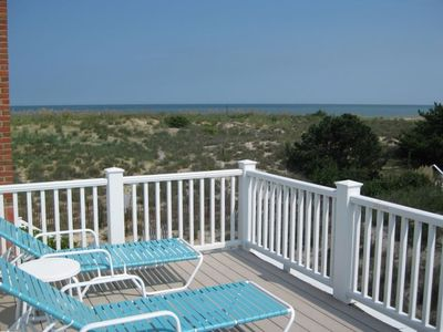 Oceanfront Sun Deck with unobstructed Ocean View over our protective sand dune