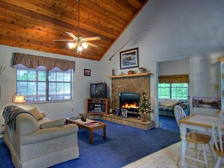 Pigeon Forge cabin photo - Cozy up to the Stone Stack Fireplace