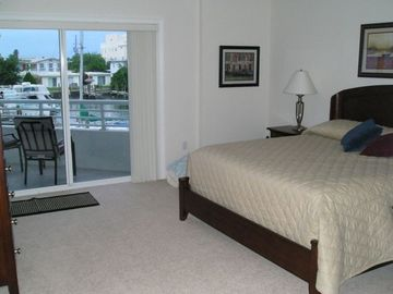 Clearwater Beach condo rental - Master Bedroom opens to Patio overlooking pool