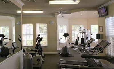 Clubhouse fitness room.