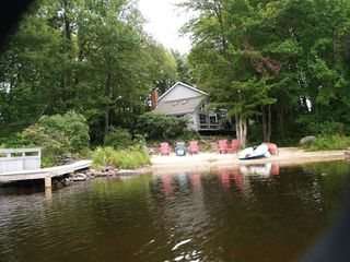 Big Bass Lake house photo - View of beach and dock