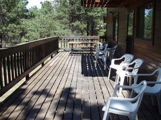 Angel Fire house photo - The back deck