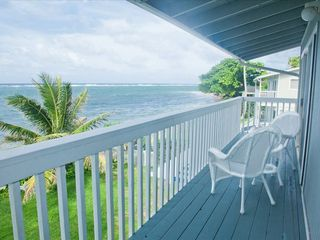 Hauula house photo - The upper deck outside the king and queen size bed