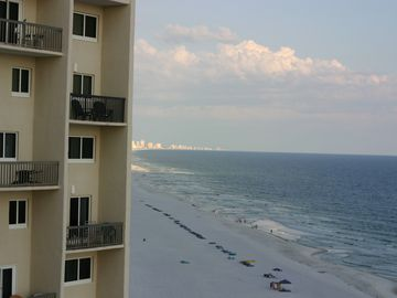 From our balcony, you can see west all the way to Panama City on one side
