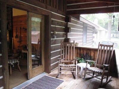 Relax with your morning coffee on the lake side screened porch.