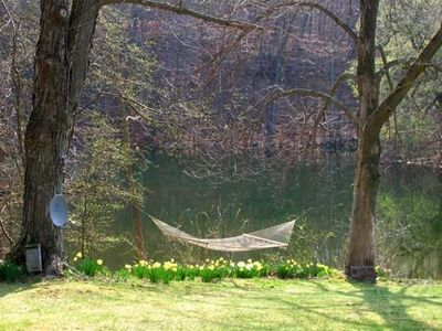 Stanfordville cabin rental - Hammock in the spring
