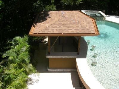 Pool and swim up bar
