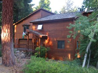Agate Bay house rental - Front of our Lake Tahoe home on wooded underground utility street