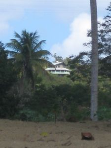 Villa Panorama from the beach (telephoto)