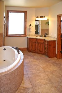 Grand Master Bath with Jetted Tub and walk-in shower