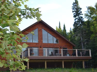 Modern Rustic Log Home Lac La Belle