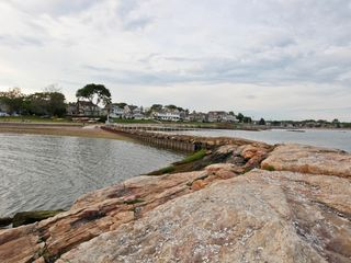 Branford house photo - View of Owenego Beach Club from Pier. Just steps away from vacation rental.