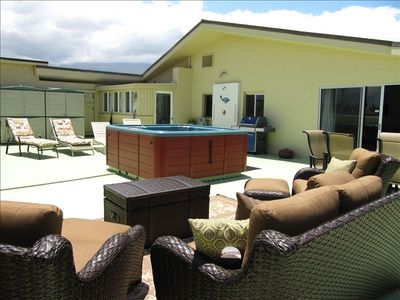 Sunbathe privately; enjoy dinner by moonlight or soak in 8 person jacuzzi