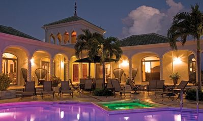 Kismet St. John Virgin Islands - Courtyard at dusk