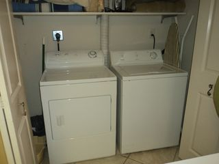 Orange Beach condo photo - Full Sized Washer and Dryer (iron and ironing board)