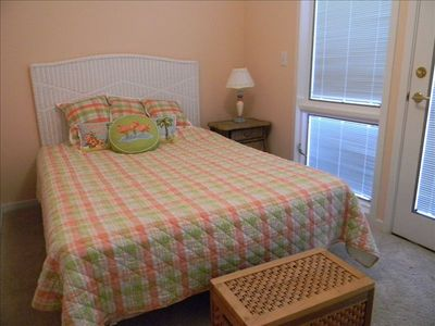 Second bedroom has a queen bed and balcony. Perfect for kids or second couple.