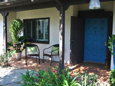 Welcome! Our inviting front porch - we hope you enjoy the tour...