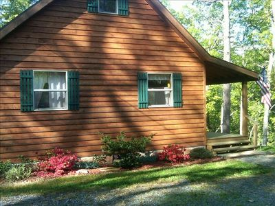 Warm Cozy Cabin with beautiful landscaping leading to the Monogahela Forest