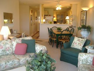 Oak Bluffs condo photo - LR, DR, Kitchen, Hall to Bedrooms & Baths