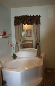 Master Bathroom, private bathroom  with seperate bathtub and shower.