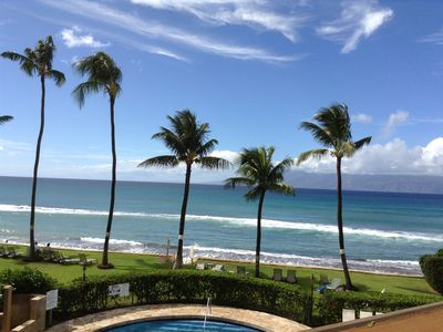 This is the beautiful view from our Paki Maui condo!  Great whale watching!