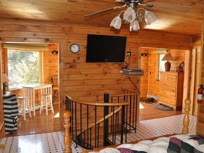 Cranberry Lake cottage rental - Master Suite with Sunroom and Great Views