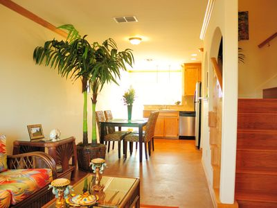 Port Aransas townhome rental - Living & dining