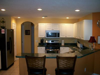 Fully Equipped Kitchen with Breakfast Bar and Modern New Appliances