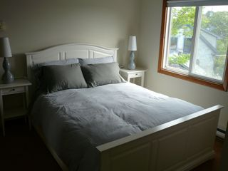 Provincetown townhome photo - The upstairs back bedroom; plenty of windows ensure lots of sun and breeze!