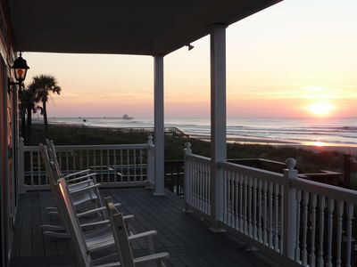 Sunrise 1st floor porch.