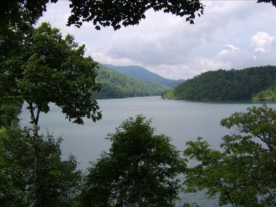 Lake Nantahala from the porch