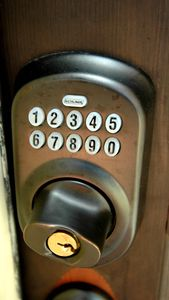 Security door lock - You pick your door code for your group! No Keys to lose!