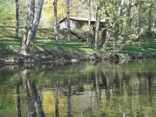 Luray cabin photo - View of Cabin from River with Steps