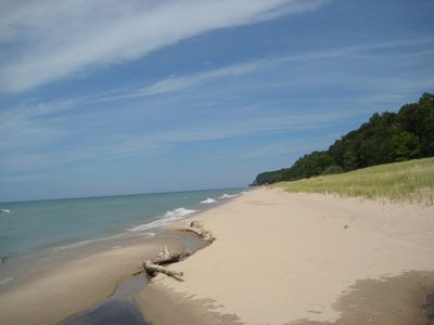 Miles of secluded Lake Michigan beaches directly in front of cottage. Walk miles