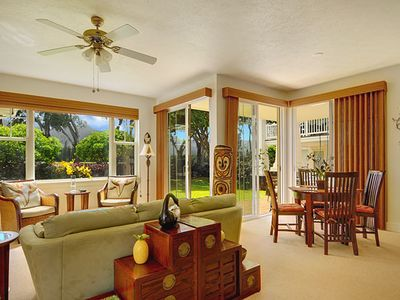 Princeville condo rental - A great, Great Room.