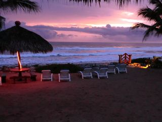 Troncones villa photo - Sunset on you private beach!