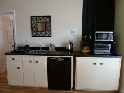 Spacious and efficient kitchen area - all fresh and new and ready for you!!