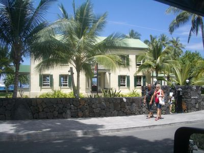 Hulihe'e Palace, in Kona town, was the summer home of Hawaiian Royalty.