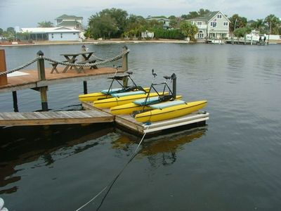 Water Bikes on Floating Dock,  Bring your boat or use our Canoe or Kayaks
