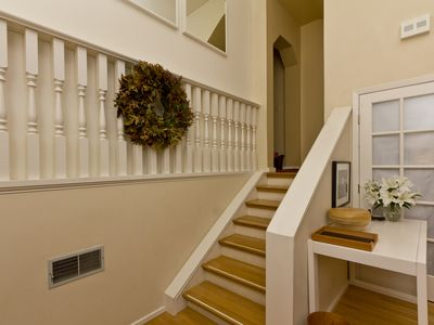 San Francisco apartment rental - Stairs from Entry & Living Room to Remainder of Flat