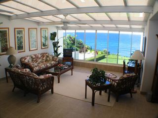 Princeville condo photo - The enclosed atrium entry welcomes you during your stay at our Kauai home