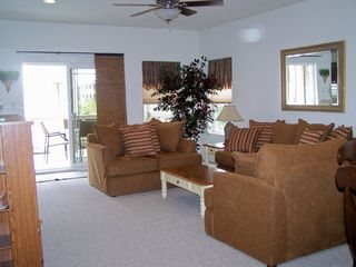 Wildwood townhome photo - comfortable living area with two pullout sleeper sofas